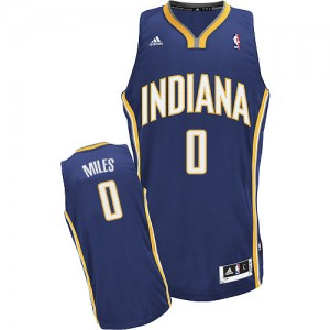 Maillot NBA Indiana Pacers #0 C.J. Miles Bleu marin Adidas Swingman Road - Homme