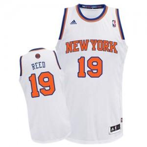 Maillot NBA New York Knicks #19 Willis Reed Blanc Adidas Swingman Home - Homme