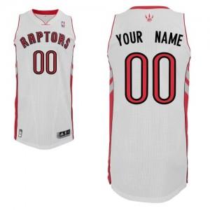 Maillot NBA Toronto Raptors Personnalisé Authentic Blanc Adidas Home - Homme