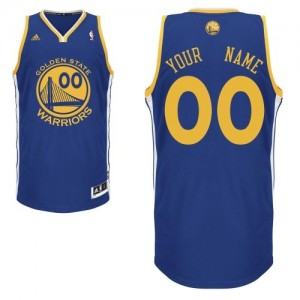 Maillot NBA Golden State Warriors Personnalisé Swingman Bleu royal Adidas Road - Enfants