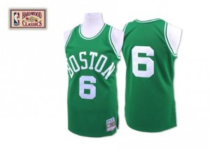 Maillot NBA Authentic Bill Russell #6 Boston Celtics Throwback Vert - Homme