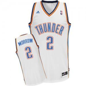 Oklahoma City Thunder #2 Adidas Home Blanc Swingman Maillot d'équipe de NBA Vente pas cher - Anthony Morrow pour Homme