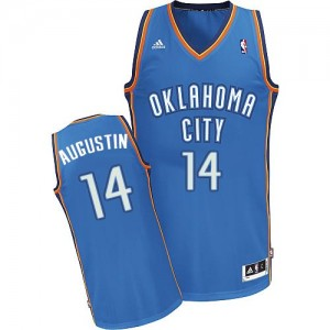 Maillot NBA Swingman D.J. Augustin #14 Oklahoma City Thunder Road Bleu royal - Homme