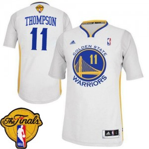 Maillot Swingman Golden State Warriors NBA Alternate 2015 The Finals Patch Blanc - #11 Klay Thompson - Femme
