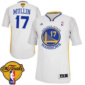 Maillot Swingman Golden State Warriors NBA Alternate 2015 The Finals Patch Blanc - #17 Chris Mullin - Homme