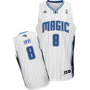 Maillot NBA Orlando Magic #8 Channing Frye Blanc Adidas Swingman Home - Homme