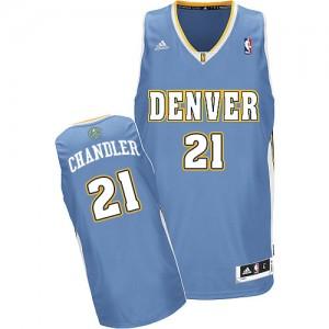 Denver Nuggets #21 Adidas Road Bleu clair Swingman Maillot d'équipe de NBA Promotions - Wilson Chandler pour Homme