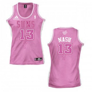 Maillot Authentic Phoenix Suns NBA Fashion Rose - #13 Steve Nash - Femme