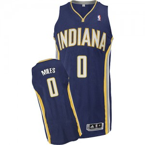 Maillot Authentic Indiana Pacers NBA Road Bleu marin - #0 C.J. Miles - Homme