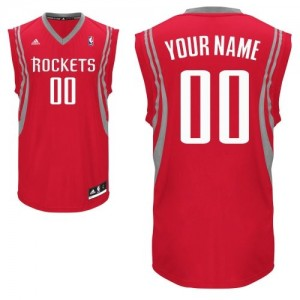 Maillot Adidas Rouge Road Houston Rockets - Swingman Personnalisé - Enfants