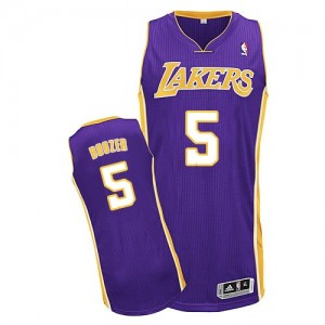 Maillot NBA Authentic Carlos Boozer #5 Los Angeles Lakers Road Violet - Homme