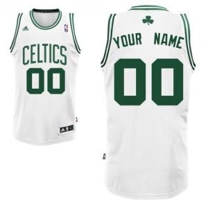 Maillot Adidas Blanc Home Boston Celtics - Swingman Personnalisé - Homme