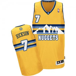 Maillot NBA Denver Nuggets #7 JJ Hickson Or Adidas Authentic Alternate - Homme