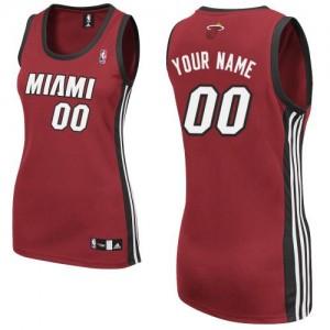 Maillot NBA Rouge Authentic Personnalisé Miami Heat Alternate Femme Adidas