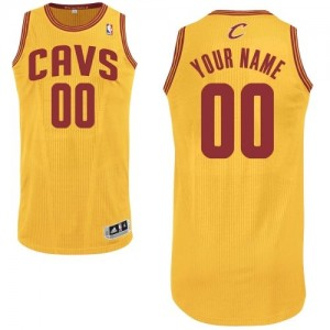 Maillot NBA Authentic Personnalisé Cleveland Cavaliers Alternate Or - Enfants