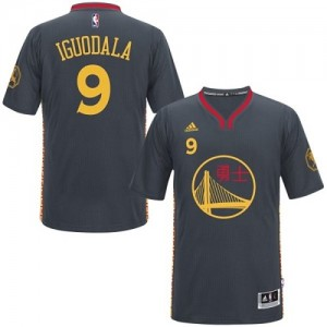 Golden State Warriors Andre Iguodala #9 Slate Chinese New Year Authentic Maillot d'équipe de NBA - Noir pour Homme