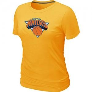 New York Knicks Big & Tall Jaune Tee-Shirt d'équipe de NBA la vente - pour Femme