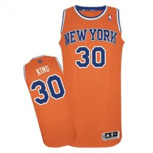 Maillot NBA Orange Bernard King #30 New York Knicks Alternate Authentic Homme Adidas
