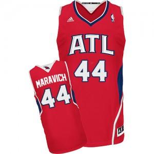Atlanta Hawks Pete Maravich #44 Alternate Swingman Maillot d'équipe de NBA - Rouge pour Homme