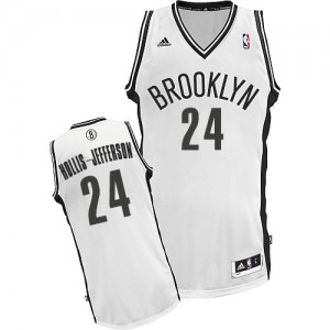 Maillot NBA Blanc Rondae Hollis-Jefferson #24 Brooklyn Nets Home Swingman Homme Adidas