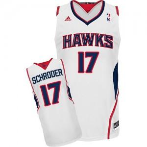 Atlanta Hawks Dennis Schroder #17 Home Swingman Maillot d'équipe de NBA - Blanc pour Homme