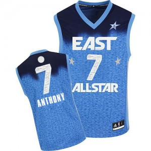 Maillot NBA Bleu Carmelo Anthony #7 New York Knicks 2012 All Star Swingman Homme Adidas