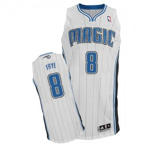 Maillot Adidas Blanc Home Authentic Orlando Magic - Channing Frye #8 - Homme