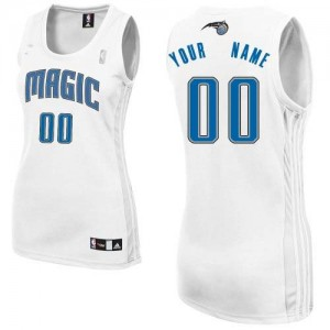 Maillot NBA Blanc Authentic Personnalisé Orlando Magic Home Femme Adidas