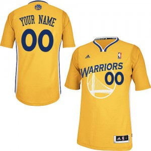 Maillot Adidas Or Alternate Golden State Warriors - Swingman Personnalisé - Homme