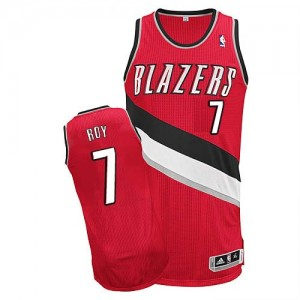 Portland Trail Blazers #7 Adidas Alternate Rouge Authentic Maillot d'équipe de NBA Expédition rapide - Brandon Roy pour Homme