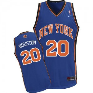 Maillot NBA Authentic Allan Houston #20 New York Knicks Throwback Bleu royal - Homme