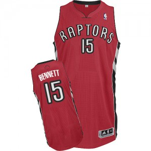 Toronto Raptors Anthony Bennett #15 Road Authentic Maillot d'équipe de NBA - Rouge pour Homme