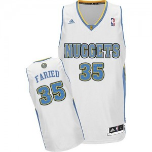 Maillot NBA Swingman Kenneth Faried #35 Denver Nuggets Home Blanc - Homme