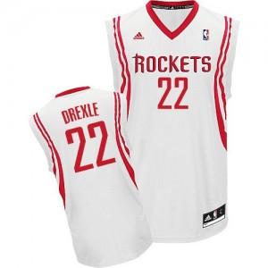 Houston Rockets #22 Adidas Home Blanc Swingman Maillot d'équipe de NBA en soldes - Clyde Drexler pour Homme