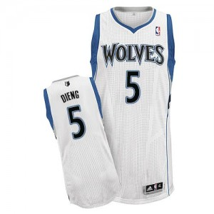 Maillot Authentic Minnesota Timberwolves NBA Home Blanc - #5 Gorgui Dieng - Homme