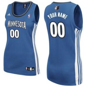 Minnesota Timberwolves Personnalisé Adidas Road Slate Blue Maillot d'équipe de NBA Remise - Swingman pour Femme