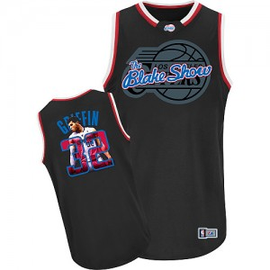Los Angeles Clippers #32 Adidas Notorious Noir Authentic Maillot d'équipe de NBA pas cher - Blake Griffin pour Homme