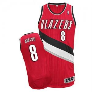 Maillot NBA Rouge Al-Farouq Aminu #8 Portland Trail Blazers Alternate Authentic Homme Adidas