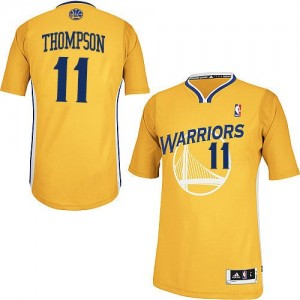 Maillot Authentic Golden State Warriors NBA Alternate Or - #11 Klay Thompson - Femme
