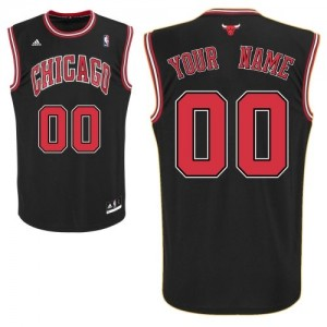 Maillot NBA Noir Swingman Personnalisé Chicago Bulls Alternate Enfants Adidas