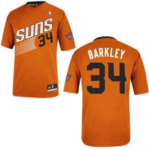 Maillot Adidas Orange Alternate Authentic Phoenix Suns - Charles Barkley #34 - Homme