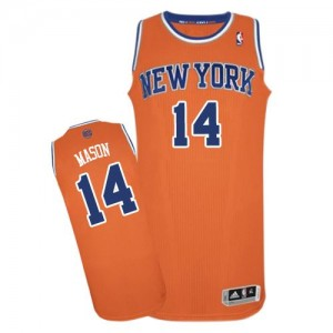 Maillot NBA Authentic Anthony Mason #14 New York Knicks Alternate Orange - Homme