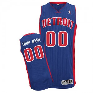 Maillot Detroit Pistons NBA Road Bleu royal - Personnalisé Authentic - Homme