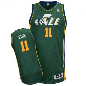 Maillot NBA Vert Dante Exum #11 Utah Jazz Alternate Authentic Homme Adidas