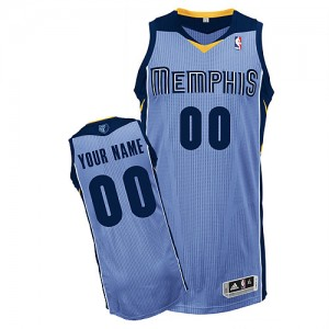 Maillot NBA Bleu clair Authentic Personnalisé Memphis Grizzlies Alternate Enfants Adidas