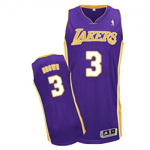 Maillot NBA Authentic Anthony Brown #3 Los Angeles Lakers Road Violet - Homme