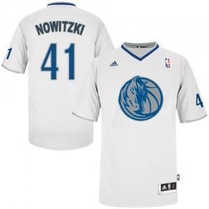 Dallas Mavericks Dirk Nowitzki #41 2013 Christmas Day Swingman Maillot d'équipe de NBA - Blanc pour Homme