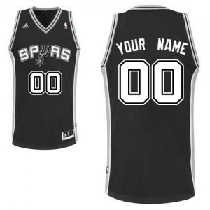 Maillot NBA Noir Swingman Personnalisé San Antonio Spurs Road Enfants Adidas