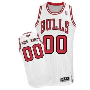 Chicago Bulls Authentic Personnalisé Home Maillot d'équipe de NBA - Blanc pour Homme