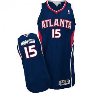 Atlanta Hawks Al Horford #15 Road Authentic Maillot d'équipe de NBA - Bleu marin pour Homme